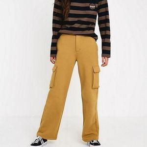 Stüssy Bix Fleece Cargo Pant mustard women's sz M
